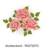 roses. illustration with... | Shutterstock .eps vector #90272071