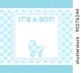 baby boy vector arrival card... | Shutterstock .eps vector #90276244