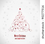 beautiful christmas tree | Shutterstock .eps vector #90277516