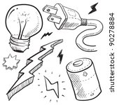 Doodle Style Electricity Or...