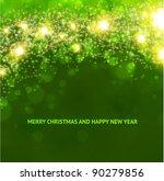 green abstract christmas...