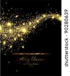 elegant christmas background... | Shutterstock .eps vector #90280639
