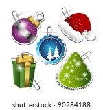 collection of christmas sticker
