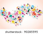 abstract art background   Shutterstock .eps vector #90285595