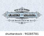 vector vintage wedding... | Shutterstock .eps vector #90285781