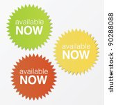 available now stickers with... | Shutterstock .eps vector #90288088