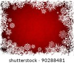 abstract snow flake christmas... | Shutterstock . vector #90288481