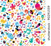 party pattern - stock vector
