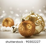 christmas vintage decoration | Shutterstock . vector #90302227
