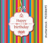 vector happy birthday card.... | Shutterstock .eps vector #90308695