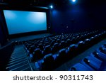 dark movie theatre interior.... | Shutterstock . vector #90311743