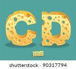 vector of cheese alphabet | Shutterstock .eps vector #90317794