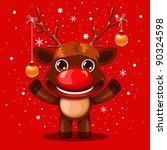 Reindeer Illustration In Front...
