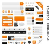 large set of icons  buttons and ... | Shutterstock .eps vector #90330436