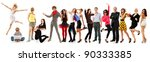 group people happy isolated on... | Shutterstock . vector #90333385