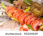Fresh Seafood Photographed In ...