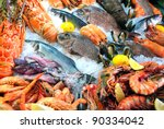 Fresh Seafood Photographed In...