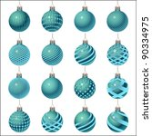 set of christmas balls... | Shutterstock .eps vector #90334975