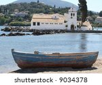 Small Greek Fishing Boat On...