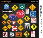 image of various road signs on...