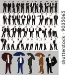 businessman's silhouettes | Shutterstock .eps vector #9035065