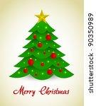 vector christmas tree | Shutterstock .eps vector #90350989