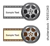 film tape with space to copy...   Shutterstock .eps vector #90351343