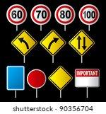 set of traffic sign | Shutterstock .eps vector #90356704