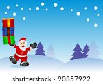 illustration of christmas... | Shutterstock . vector #90357922