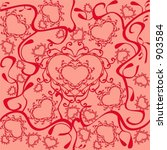 vector hearts pattern that... | Shutterstock .eps vector #903584