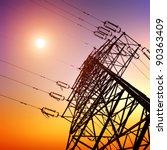 high voltage post.high voltage...   Shutterstock . vector #90363409