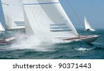 Dragon Yacht Bow With Wave And...