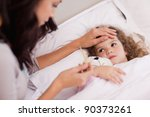 young mother taking care of her ... | Shutterstock . vector #90373261