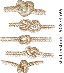 rope knots | Shutterstock .eps vector #90374596