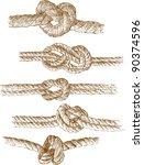 rope knots | Shutterstock .eps vector #90374596