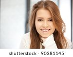 bright picture of happy and... | Shutterstock . vector #90381145
