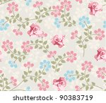seamless wallpaper pattern with ...   Shutterstock .eps vector #90383719