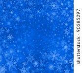 blue christmas grunge texture... | Shutterstock . vector #90385297