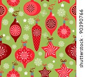 retro christmas background | Shutterstock .eps vector #90390766