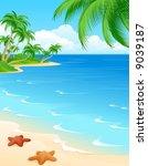 beach scene | Shutterstock . vector #9039187