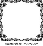 Silhouette Border With Rose...