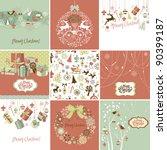 set of christmas cards | Shutterstock .eps vector #90399187