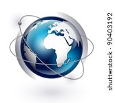 icon of earth on a white... | Shutterstock .eps vector #90403192