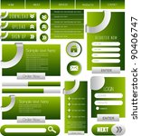 web designing element collection | Shutterstock .eps vector #90406747