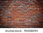 Red Brick Grunge Wall Background
