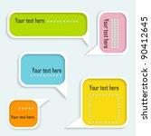 speech bubbles set. eps10   Shutterstock .eps vector #90412645