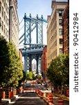 manhattan bridge view from... | Shutterstock . vector #90412984