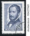 hungary   circa 1968  a stamp... | Shutterstock . vector #90427969