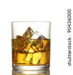 glass of whiskey and ice... | Shutterstock . vector #90436000