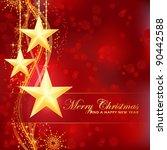 luxury and festive red golden...   Shutterstock .eps vector #90442588